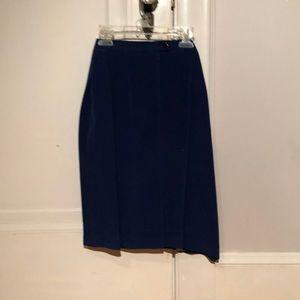 Blue pencil skirt.